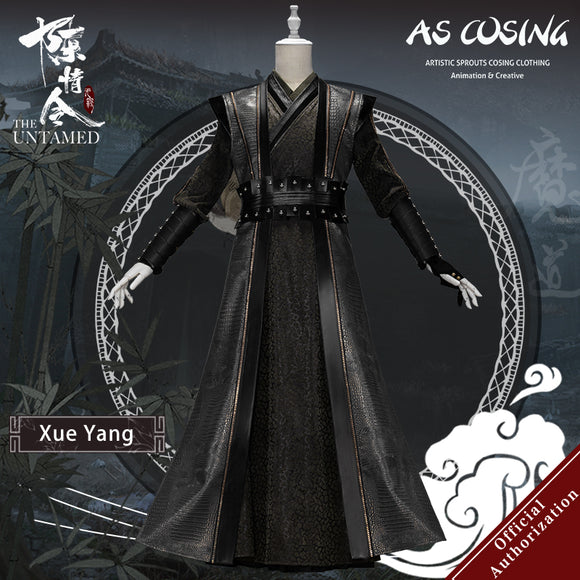 Pre-sale TV Series The Untamed Xue Yang Cosplay Costume Xu Chengmei Ancient Men's Clothing With Accessories