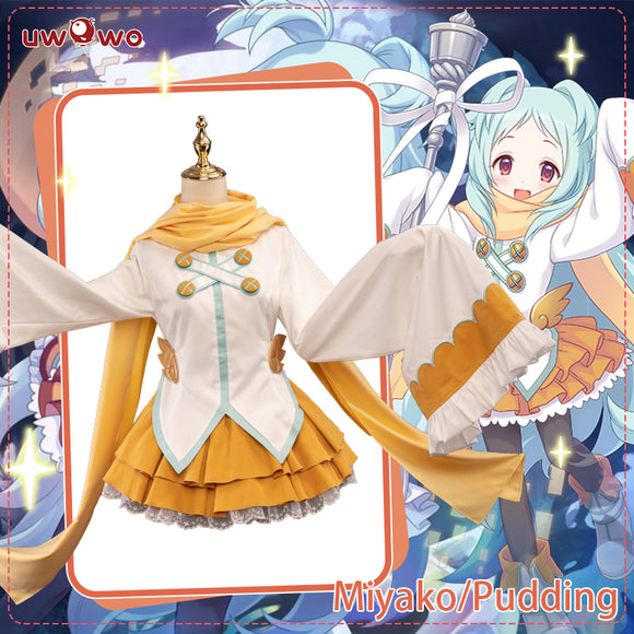 UWOWO Game Princess Connect! Re:Dive Miyako Izumo Initial Cosplay Costume Pudding Cute Girl Dress Cosplay