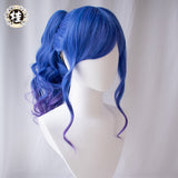 Uwowo Azur Lane St. Louis  Cosplay Wig 40cm  Blue Purple Gradient Hair Matt Synthetic Heat Resistant Fiber