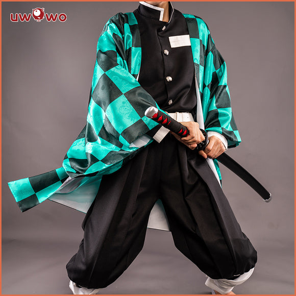 【New version】Uwowo Demon Slayer: Kimetsu no Yaiba Kamado Tanjiro Cosplay Costume Demon Slaying Corps Uniform