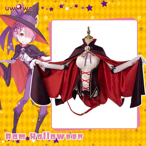Uwowo Re:Zero Starting Life in Another World Ram Halloween ver. cosplay costume