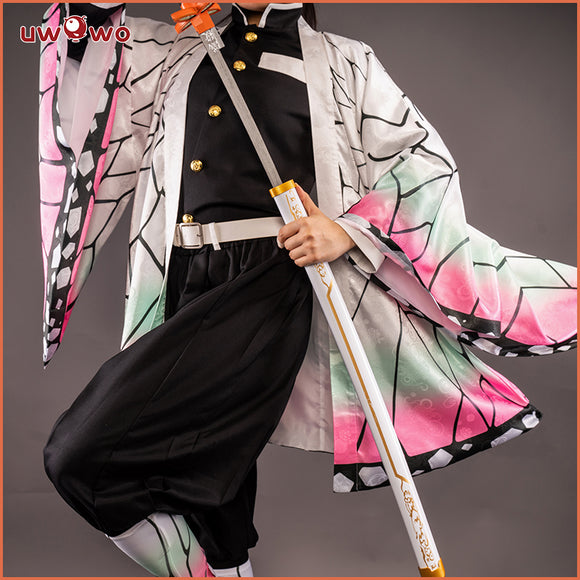 【New version】Uwowo Demon Slayer: Kimetsu no Yaiba Kocho Shinobu Cosplay Costume Demon Slaying Corps Uniform
