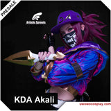 【Clearance sale】Artistic Sprouts Version Game League Of Legends K/DA Original  Akali Cosplay Coat  LOL KDA  Women Costume Accessories