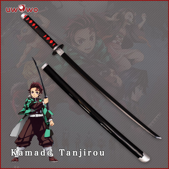 Uwowo Demon Slayer: Kimetsu no Yaiba Nichirin Blade Kamado Tanjiro Personal Swords Demon Slaying Corps Cosplay Props