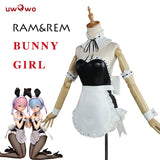 UWOWO Re:zero Re Life In a Different World From Zero Ram Rem Bunny Girl Cosplay Costume