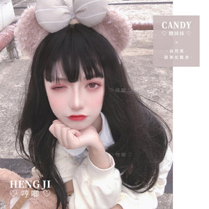 Hengji Lolita Wig Candy Chocolate-Black 55cm Long  straight hair Synthetic Heat Resistant Fiber