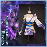 Uwowo League of Legends LOL Spirit Blossom Riven The Exile Cosplay Costume