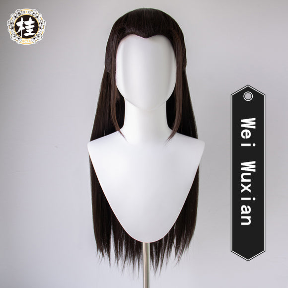 【Pre-sale】Uwowo The Untamed Wei Wuxian Wei Ying Black Wig 90cm long Hair Synthetic Heat Resistant Fiber