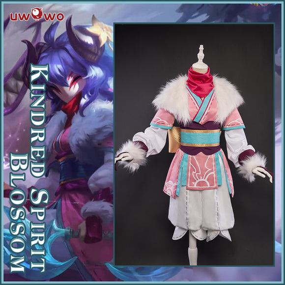 Uwowo League of Legends LOL Spirit Blossom Kindred Eternal Hunters Cosplay Costume