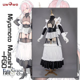 UWOWO Fate Grand Order/FGO Miyamoto Musashi Douji Ver. Maid Uniform Cosplay Costume Sexy Cosplay Dress