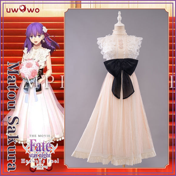 【Pre-sale】UWOWO Fate/Stay Night HF III. spring song Sakura Matou Dress Cosplay Costume