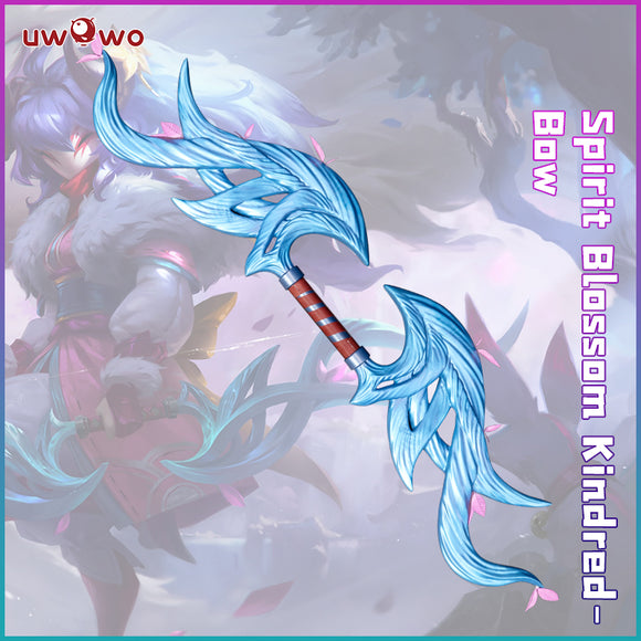 Uwowo League of Legends LOL Spirit Blossom Kindred Eternal Hunters Bow Cosplay Props