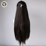 Uwowo The Untamed Lan Wangji Lan Zhan Black Wig 90cm long Hair Synthetic Heat Resistant Fiber
