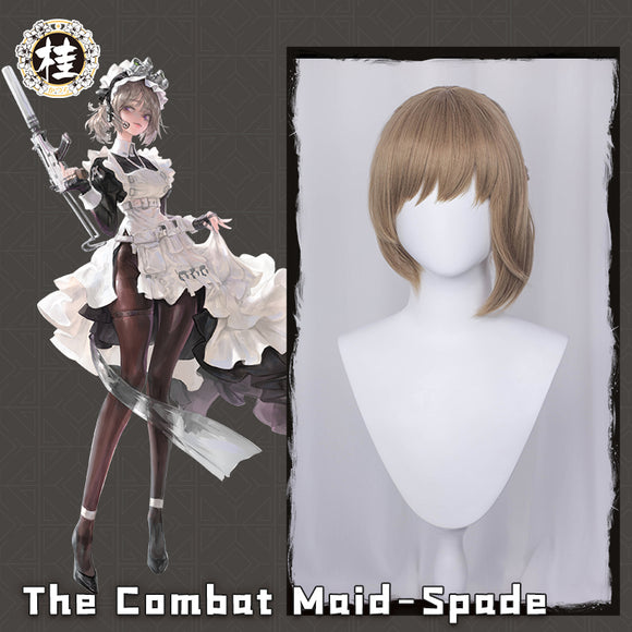 【Pre-sale】The Combat Maid Series ♠ Spade Cosplay Wig 35cm Light gray brown Hair