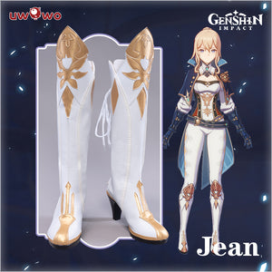 Uwowo Game Genshin Impact Jean The rigorous Dandelion Knight Cosplay Shoes