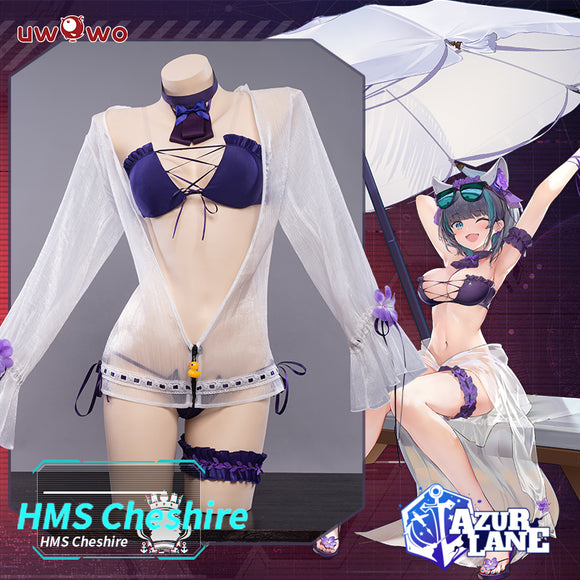 【Pre-Sale】Uwowo Game Azur Lane Cheshire Swimsuit Cosplay Costume Sexy Women Cosplay