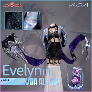 【 Pre-sale】Uwowo KDA All Out Evelynn Cosplay Costume League of Legends LOL Agony's Embrace Costume K/DA