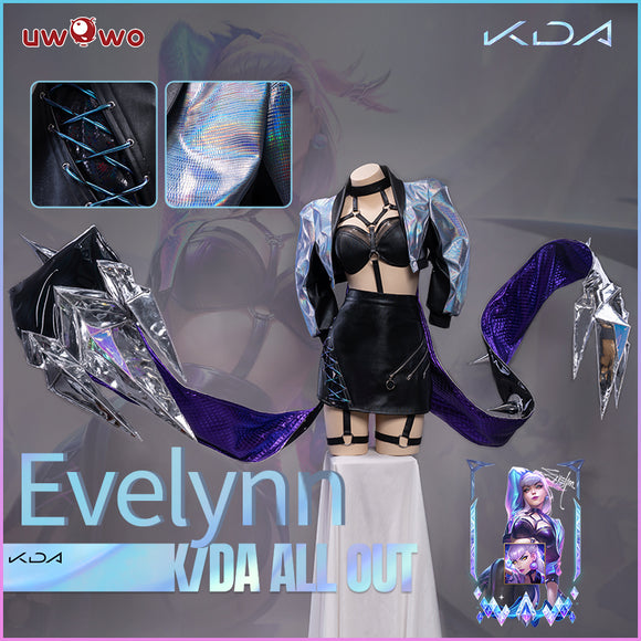 Uwowo KDA All Out Evelynn Cosplay Costume League of Legends LOL Agony's Embrace Costume K/DA