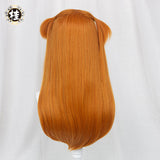 【Pre-sale】Uwowo Game Honkai Impact 3 x EVANGELION:Asuka 60CM Orange Brown Long Double Ponytail Cosplay Wig