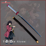 Uwowo Demon Slayer: Kimetsu no Yaiba Nichirin Blade Tomioka Giyuu Personal Swords Demon Slaying Corps Cosplay Props