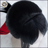 UWOWO Kagura-sama: Love is War Shinomiya Kaguya Cosplay Wig 30cm Short Black Hair Matte Synthetic Heat Resistant Fiber