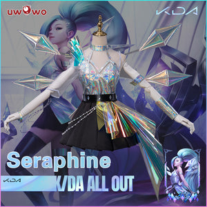 【Pre-sale】Uwowo KDA All Out Seraphine Cosplay Costume League of Legends LOL The Starry-Eyed Songstress K/DA
