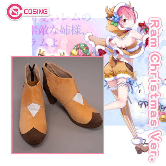 【Pre-sale】Re:Zero×White Cat Project Ram Christmas Reindeer Ver. Cosplay Shoes