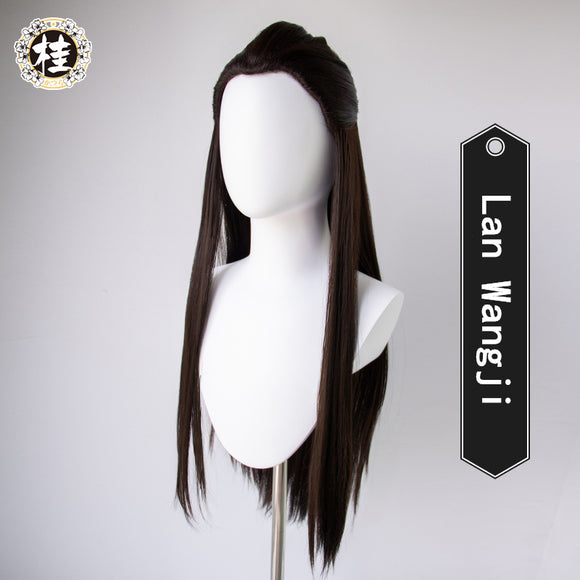 【Pre-sale】Uwowo The Untamed Lan Wangji Lan Zhan Black Wig 90cm long Hair Synthetic Heat Resistant Fiber