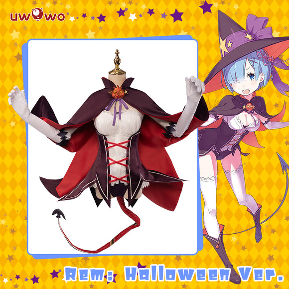 Uwowo Re:Zero Starting Life in Another World Rem Halloween ver. cosplay costume