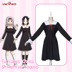 Uwowo Anime Kaguya-sama: Love Is War Cosplay Costume Shinomiya Kaguya Fujiwara Chika Universal Uniform Dress