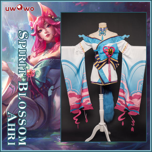Uwowo League of Legends LOL Spirit Blossom Ahri The Nine-Tailed Fox Cosplay Costume