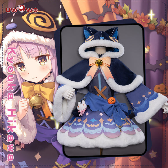 【Pre-sale】UWOWO Game Princess Connect! Re:Dive Kyouka Hikawa Halloween Card Cosplay Costume Cute Cat Dress Cosplay