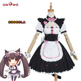 【Pre-sale】UWOWO Chocola Cosplay Game NEKOPARA Costume Chocola Vanilla Maid Dress Costume