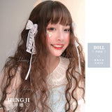 Hengji Lolita Wig Doll Chocolate-Vine-Gold-Linen gray-Black-Blue 55cm Long curly wig Synthetic Heat Resistant Fiber