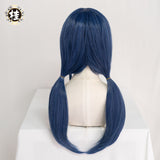 Uwowo Game Arknights Chen Cosplay wig 80cm Blue and Black gradient wig