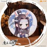 Anime Grandmaster of Demonic Cultivation / Mo Dao Zu Shi Creative Product Rabbit Ear Badge Wei Wuxian Lan Wangji Derivatives
