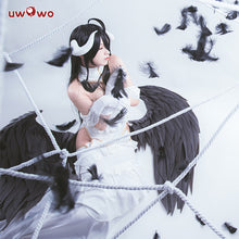 UWOWO Albedo Cosplay Anime Overlord White Dress Costume