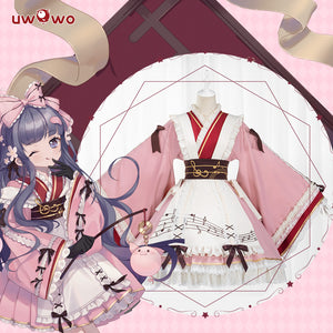 UWOWO Anime Sakura Card Captor Fanart Ver. Tomoyu Daidouji Lolita Pig Doujin Cosplay Costume Girls Kawaii Dress