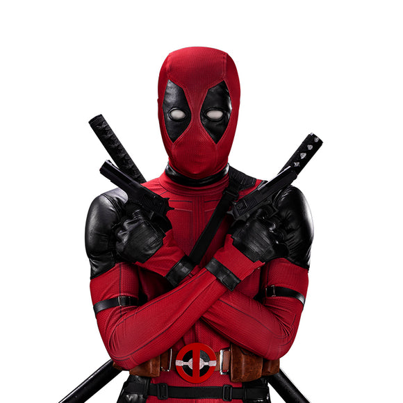 UWOWO Deadpool Cosplay Costume Wade Winston Wilson Bodysuit Deluxe Full Set Leather Outfits Halloween Cosplay
