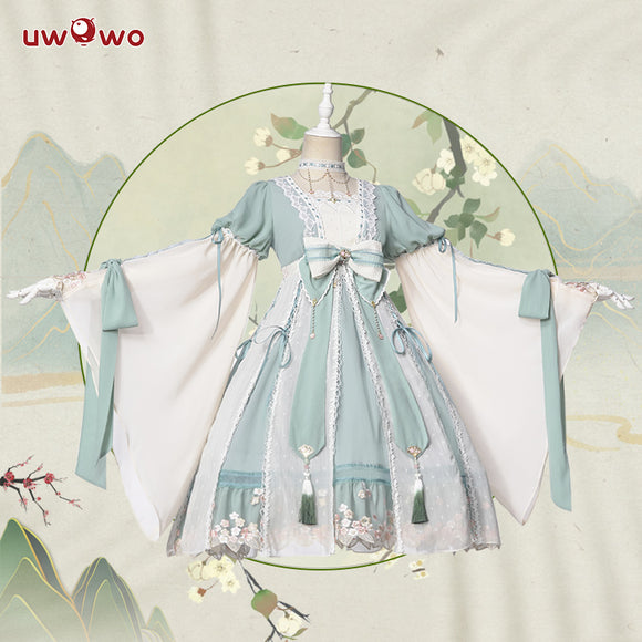 【Pre-sale】Uwowo Original Design Sprouts Chinoiserie Lolita Dress Cosplay Costume