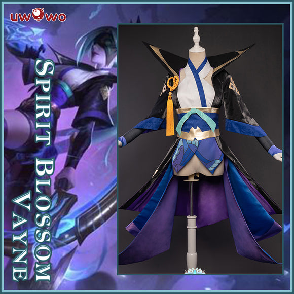 【Pre-sale】Uwowo League of Legends LOL Spirit Blossom Shauna Vayne The Night Hunter Cosplay Costume