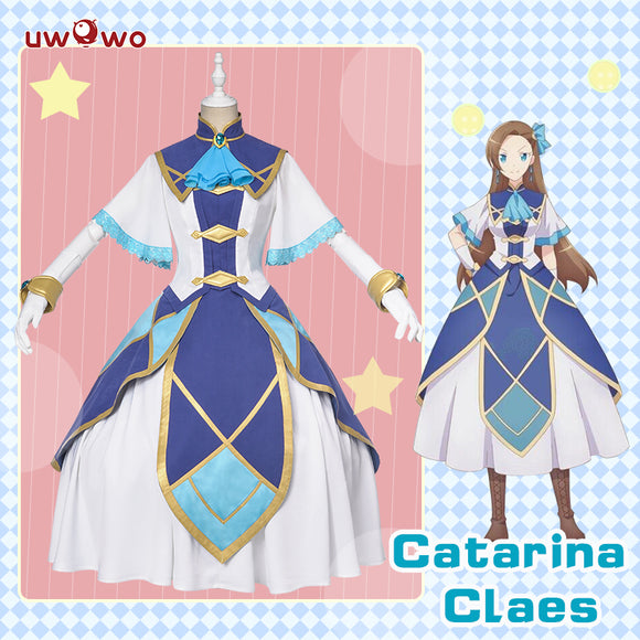 Uwowo My Next Life as a Villainess: All Routes Lead to Doom! Catarina Claes/Katarina Claes Cosplay Costume Elegant Dress