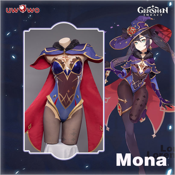 【Pre-sale】Uwowo Game Genshin Impact Mona Megistus Astral Reflection Cosplay Costume Cute Enigmatic Astrologer Bodysuit
