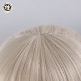 UWOWO Anime Fate Stay Night Saber Alter/Arturia Pendragon Alter Cosplay Wig 35cm Gold Hair Matte Synthetic Heat Resistant Fiber