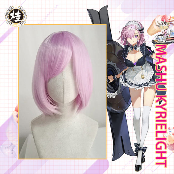 UWOWO Fate/Grand Order FGO Mashu kyrielight 30cm short Pink Purple Hair