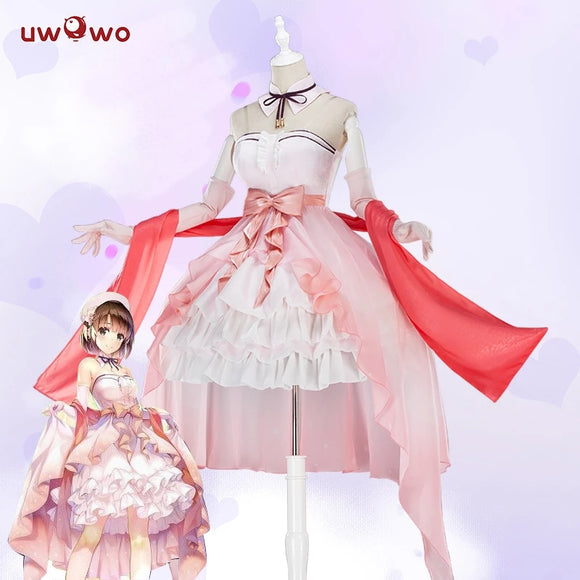 【Clearance sale】UWOWO Anime Saekano: How to Raise a Boring Girlfriend Cosplay Kato Megumi Cosplay Costume Cute Pink Dress