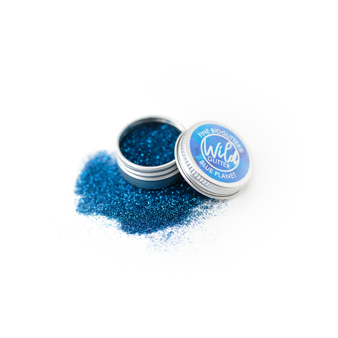 Blue Biodegradable Glitter Size L - Wild Glitter Fine Blue Planet Bioglitter®
