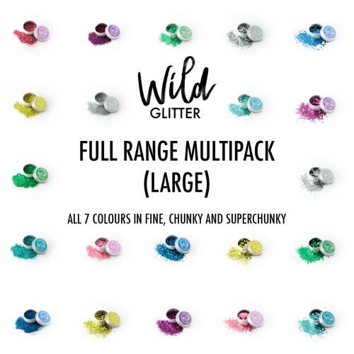 Biodegradable Glitter Large Full Range - Wild Glitter Bioglitter® Multipack