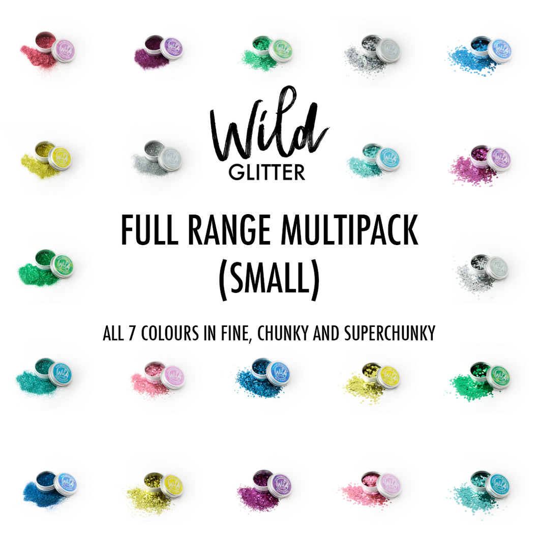 Biodegradable Glitter Small Full Range - Wild Glitter Bioglitter® Multipack