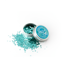 Blue Biodegradable Glitter Size L - Wild Glitter Super Chunky Mermaid Blue Bioglitter®